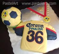 camiseta y balón América, soccer